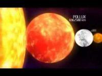 Planetas e estrelas em escala